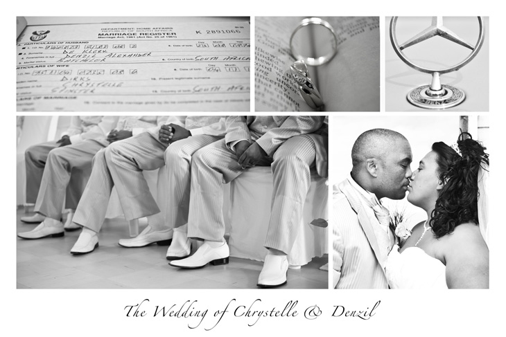 Wedding postcard for Chrystelle and Denzil
