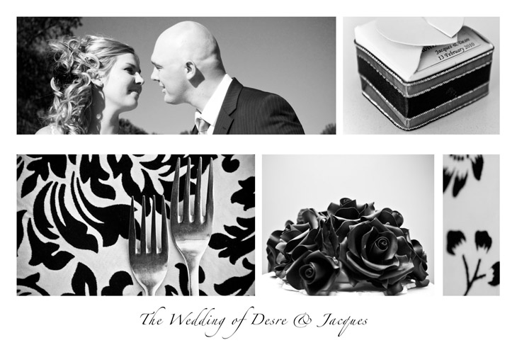 Wedding postcard for Desre & Jacques