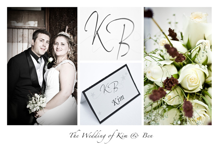 Wedding Postcard for Kim and Ben